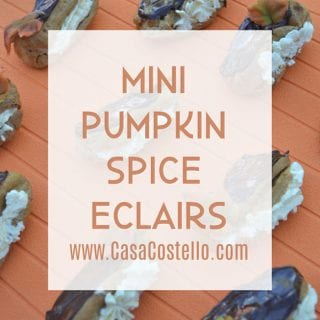 MIni Pumpkin Spice Eclairs #BakeoftheWeek