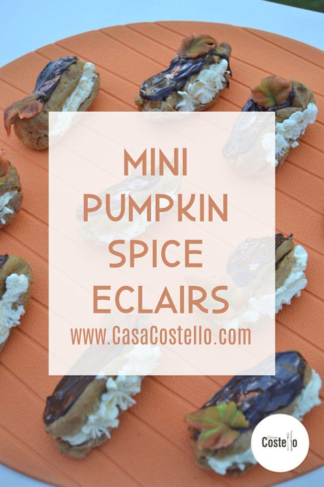 Pumpkin Spice Mini Eclairs