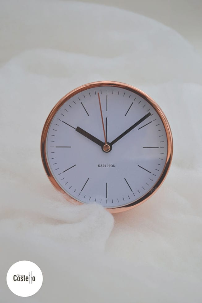 Karlsson Copper Alarm Clock
