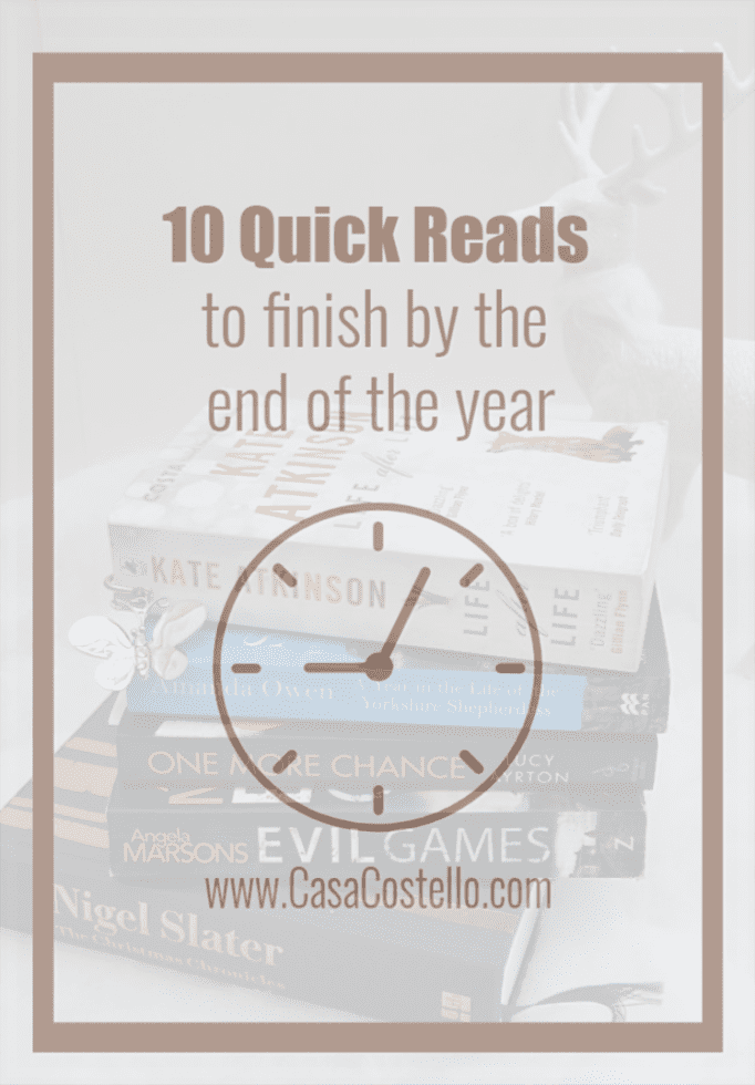 10 Quick Reads to finish by the end of the year