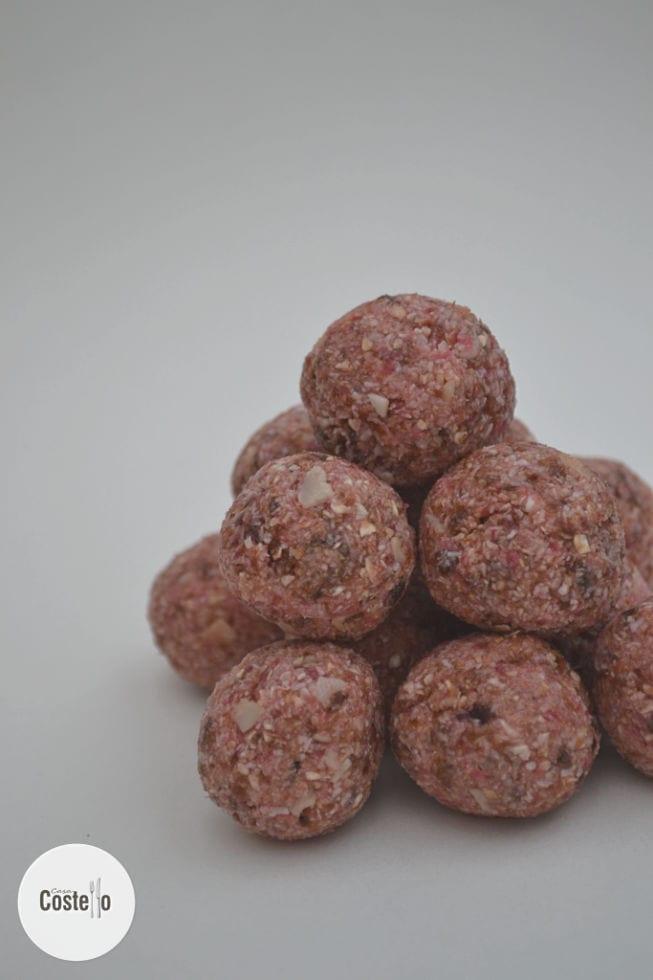 Cherry Bakewell Energy Balls