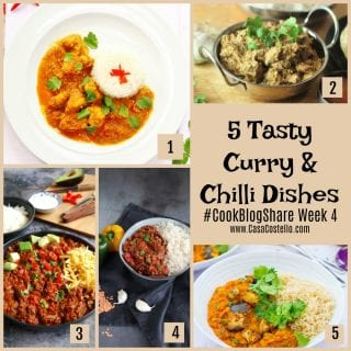 A selection of easy cook curry and chilli dishes