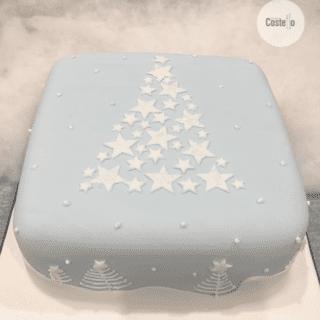 Winter Scene Christmas Cake #BakeoftheWeek