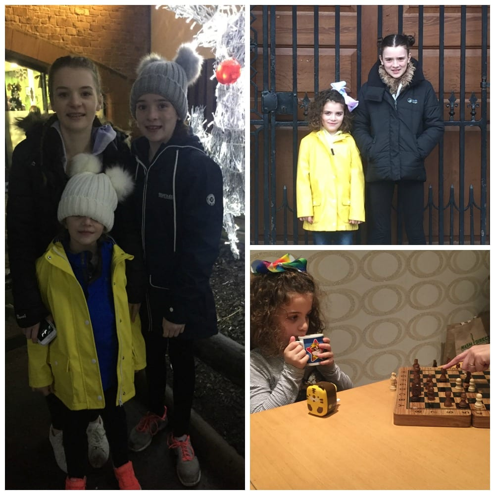 Snapshots of the Costello girls during January 2018