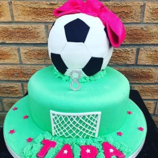 Football Cake for Girls