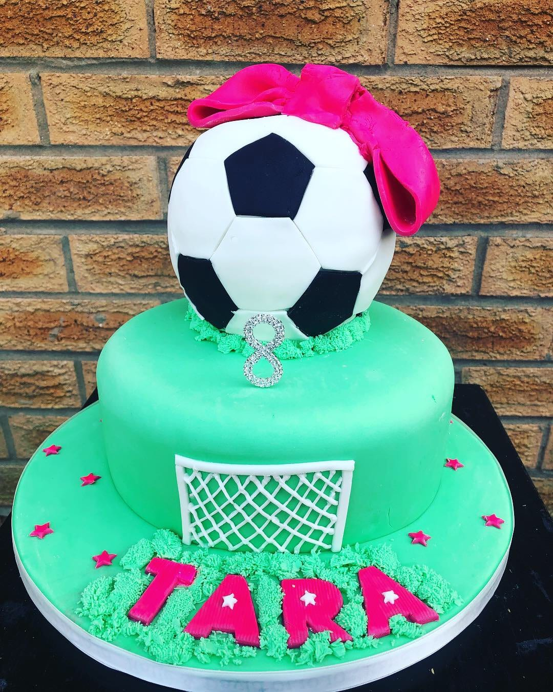 Girls' Football Cake
