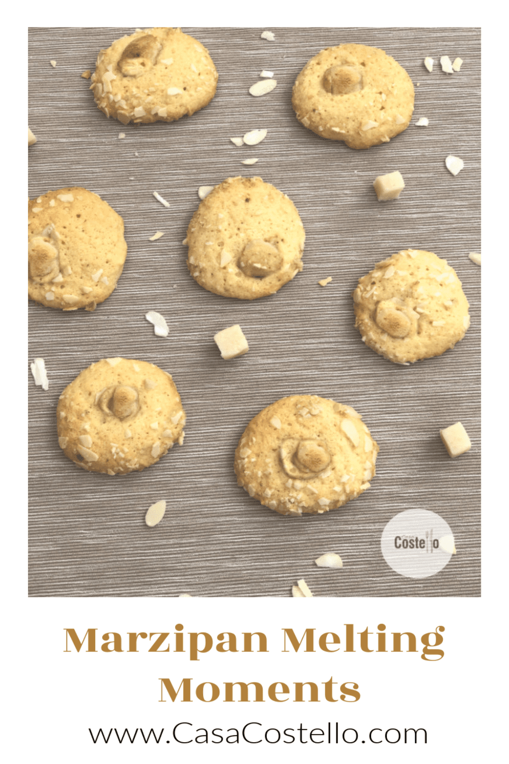 Marzipan Melting Moments cookies #BakeoftheWeek #cookies #marzipan #almond #biscuits