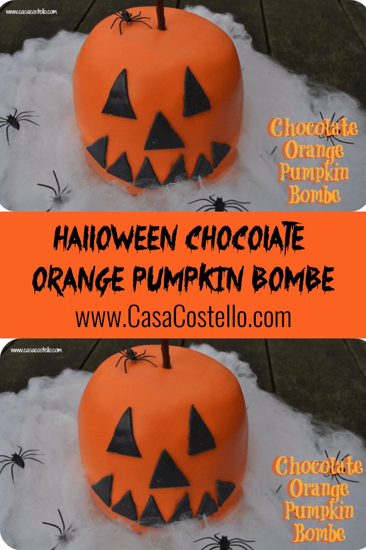 Halloween Chocolate Orange Cake Pumpkin Bombe