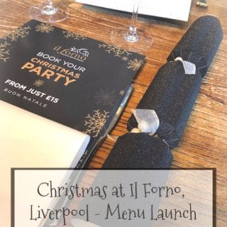 Christmas Menu launch at Il Forno Liverpool