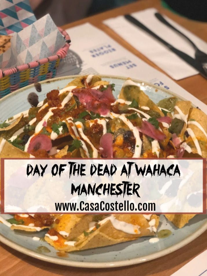 Brightly coloured Nacho dish - Wahaca Manchester