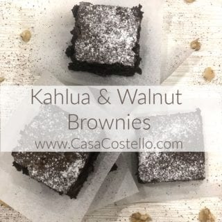 Kahlua Liqueur and Walnut Brownies