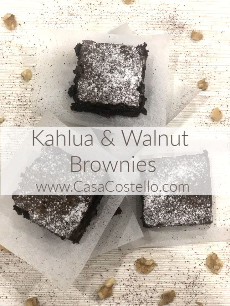 Kahlua Coffe & Walnut Brownies